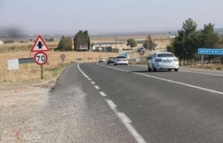 D400 karayolunun Şanlıurfa- Suruç- Birecik kesimi...